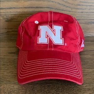 Like new Adidas Nebraska adjustable back hat